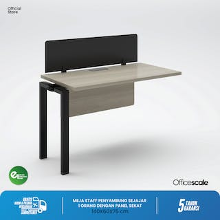 Officescale PX11406A1 WS 1 Seater Extention Desk 1400x600x750mm