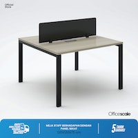 Officescale PW21212A1 WS 2 Seater Main Desk 1200x1200x750mm