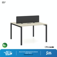 Officescale PW21412A1 WS 2 Seater Main Desk 1400x1200x750mm