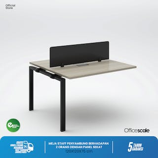 Officescale PX21212A1 WS 2 Seater Extention Desk 1200x1200x750mm