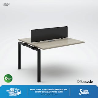 Officescale PX21412A1 WS 2 Seater Extention Desk 1400x1200x750mm