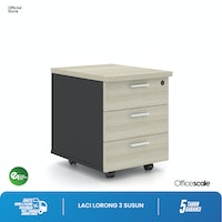 Officescale PD30405A1 Mobile Pedestal 3 drawer 400x520x520mm