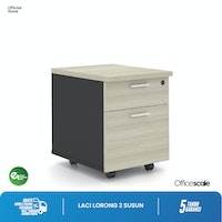 Officescale PD20405A1 Mobile Pedestal 2 drawer 400x520x520mm