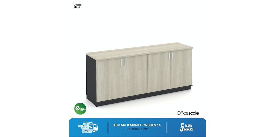 Officescale PCZ1807A1 Credenza  1800x500x750mm