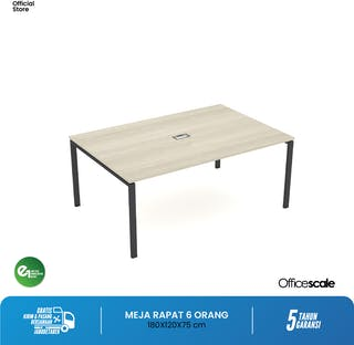 Officescale PMT1812A1 Main Desk Meeting Table 1800x1200x750mm