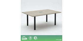 Officescale PMT2412A1 Rectangular Meeting Table 2400x1200x750mm