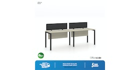 Officescale Configuration WS 2 Seater ( Main Desk 1 + Extention Desk 1) 2800x600x750mm
