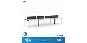 Officescale Configuration WS 4 Seater ( Main Desk 1 + Extention Desk 1) 2800x600x750mm