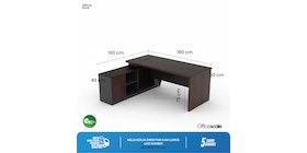 Officescale Legacy LEV18L0W1 Director Desk 1800x1600x750mm