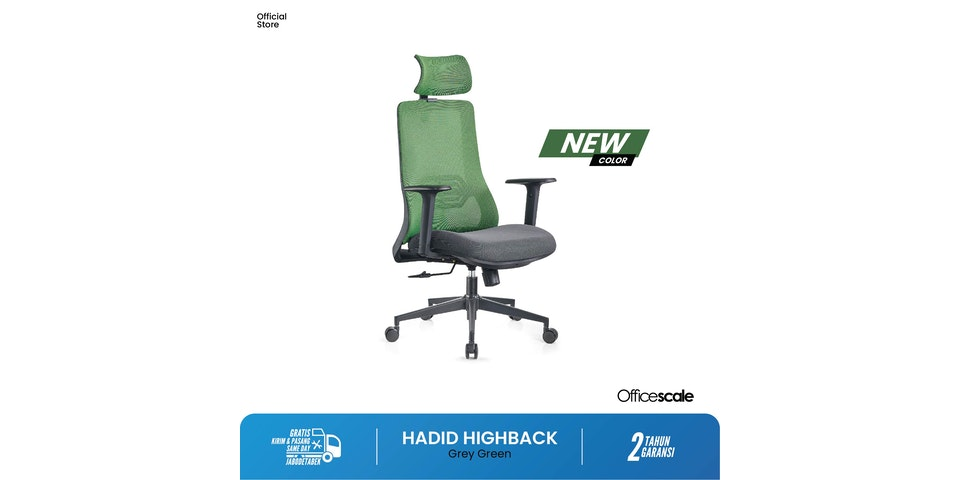 Officescale Kursi Hadid High Back Green