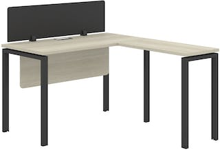 Officescale Configuration WS 1 Seater ( Main Desk 1 + Meja Samping ) 1200x1400x750mm