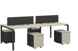 Officescale Configuration WS 4 Seater ( Main Desk 1+ Drawer) 2400x1200x750mm