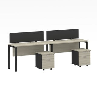 Officescale Configuration WS 2 Seater ( Main Desk 1 + Drawer 2 Susun ) 2400x600x750mm