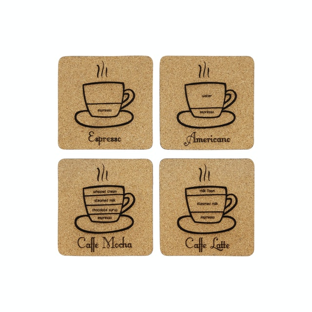 Kite Design Coffee Coaster