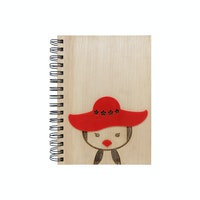 Kite Design Pinguin Girl Notebook