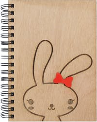 Kite Design Bunny Girl Notebook