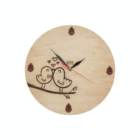Kite Design Lovebirds Clock