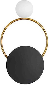 Lite and deco Lampu dinding circle and ring
