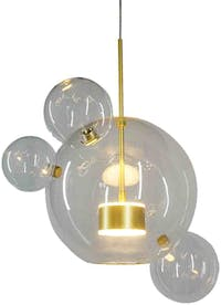 Lite and Deco Lampu gantung Bolle clear gold