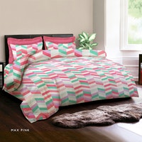 King Rabbit Set Sprei Max Pink 160x200x40cm