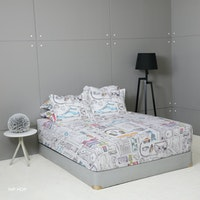 King Rabbit Set Sprei Hip-Hop 160x200x40cm