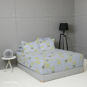King Rabbit Set Sprei Volare Toska 180x200x40cm