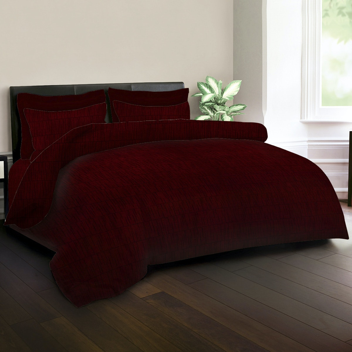 King Rabbit Bed Cover Emerald Red 140x230cm