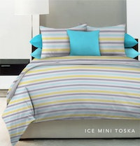 King Rabbit Set Sprei Ice Mini Tosca 180x200x40cm