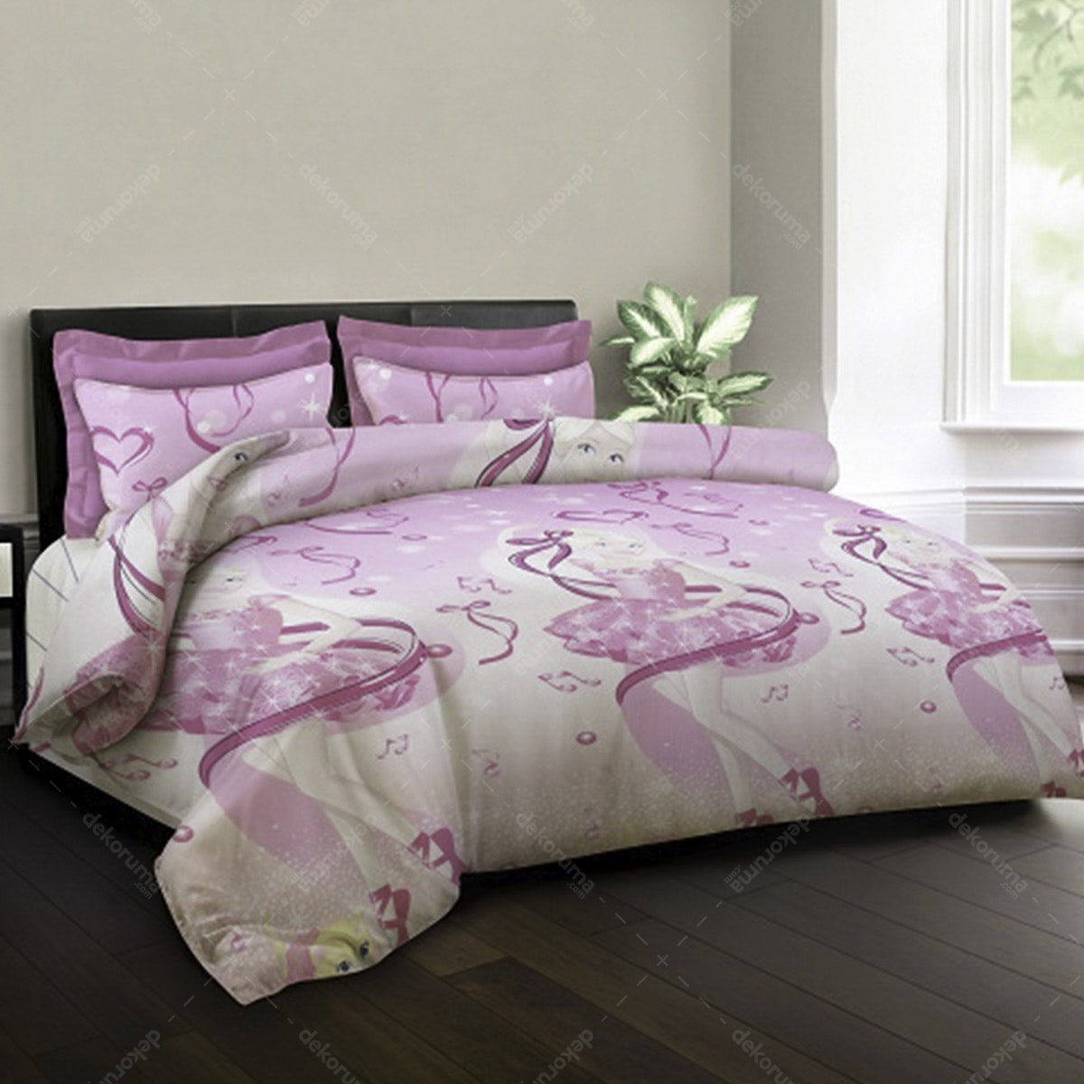 King Rabbit Set Sprei I Love Ballet Pink 160x200x40cm