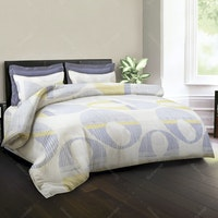 King Rabbit Set Sprei Compton Biru 180x200x40cm