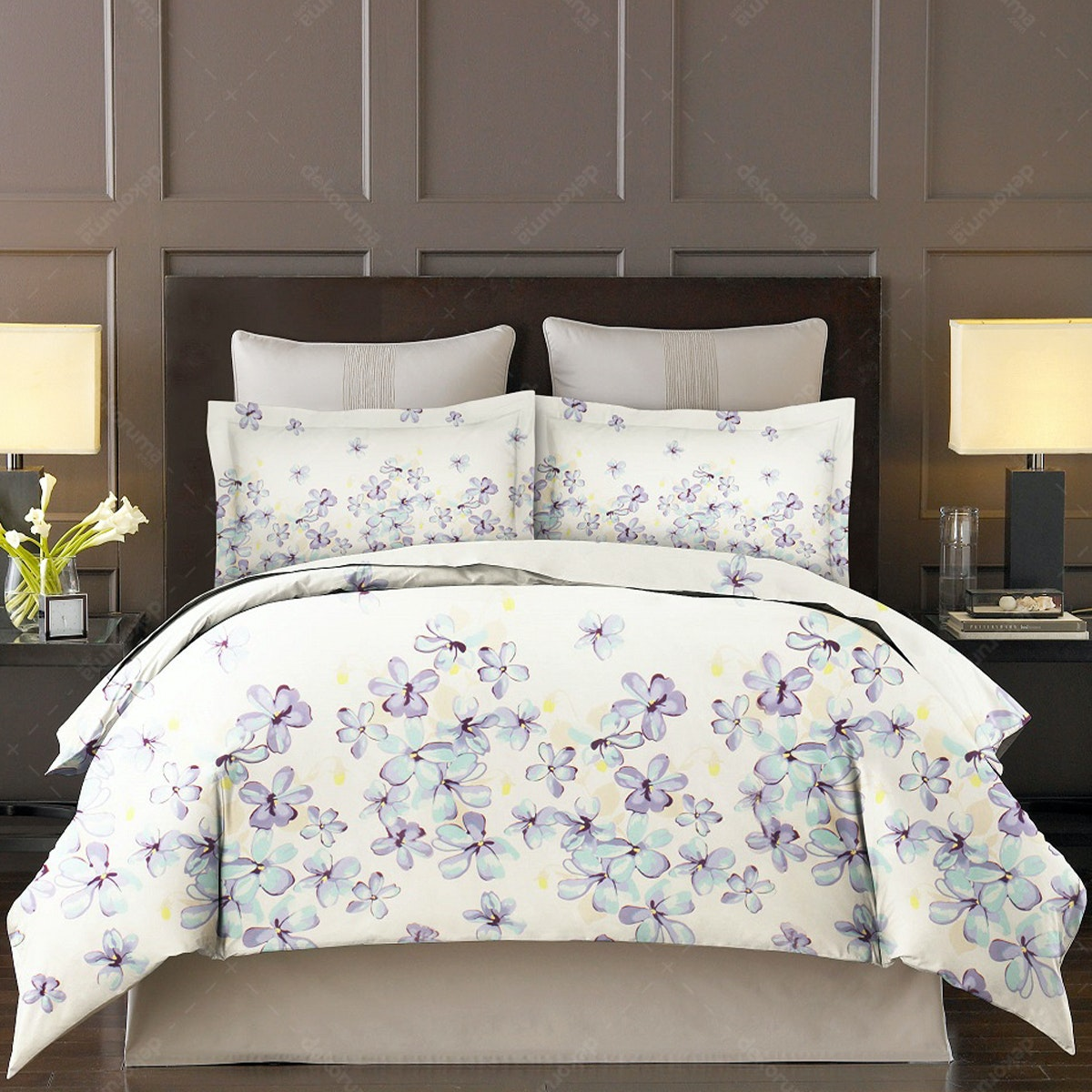 King Rabbit Set Sprei Jasmin Toska 160x200x40cm