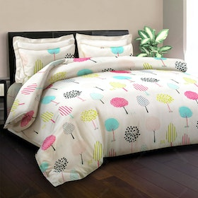 King Rabbit Bed Cover Miley Tree Putih 230x230cm