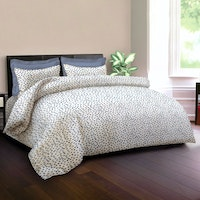 King Rabbit Set Sprei Sarung Bantal Full Motif Autograph Sign - Biru Uk 120x200x40 cm