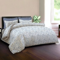 King Rabbit Set Bed Cover & Sprei Sarung Bantal Full Motif Autograph Sign - Biru Uk 120x200x40 cm