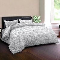 King Rabbit Set Sprei Sarung Bantal Full Motif Autograph Sign - Hitam Uk 120x200x40 cm