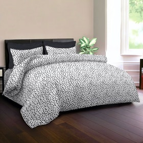 King Rabbit Set Bed Cover & Sprei Sarung Bantal Queen Motif Autograph Sign - Hitam Uk 160x200x40 cm