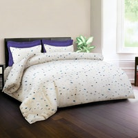 King Rabbit Set Bed Cover & Sprei Sarung Bantal Full Motif  Kata Day - Biru Uk 120x200x40 cm