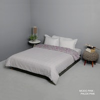 King Rabbit 7STAR Bed Cover Double Motif Modo - Pink Uk 230x230cm