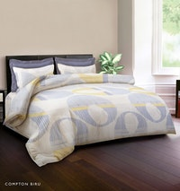 King Rabbit Bed Cover Double Motif Compthon - Biru Uk 230x230 cm