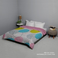 King Rabbit 7STAR Bed Cover Double Motif Melon - Toska Uk 230x230cm