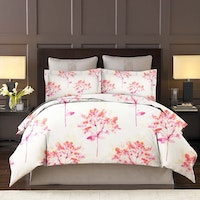 King Rabbit Set Sprei Sarung Bantal Queen Motif Lili Valley - Pink Uk 160x200x40 cm