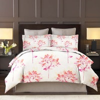 King Rabbit Bed Cover Double Motif Lili Valley - Pink Uk 230x230 cm