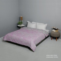 King Rabbit Bed Cover Double Motif Ling Ling - Pink Uk 230x230 cm