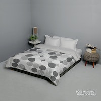 King Rabbit Bed Cover Single Motif Boss Man - Abu Uk 140x230 cm