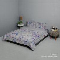 King Rabbit Set Bed Cover & Sprei Sarung Bantal King Motif Caspia - Ungu Uk 180x200x40 cm