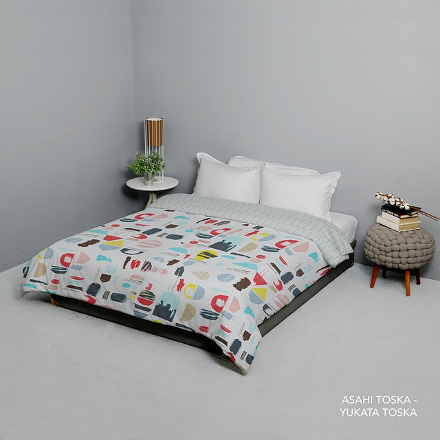 King Rabbit 7STAR Bed Cover Double Motif Asahi - Toska Uk 230x230cm