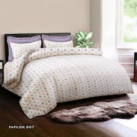 King Rabbit 7STAR Bed Cover Single Motif Papilon Dot - Ungu Uk 140x230cm