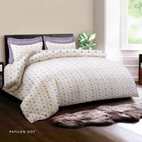 King Rabbit 7STAR Bed Cover Double Motif Papilon Dot - Ungu Uk 230x230cm