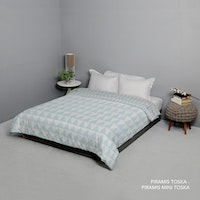 King Rabbit 7STAR Bed Cover Double Motif Piramis - Toska Uk 230x230cm