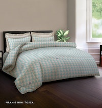 King Rabbit 7STAR Bed Cover Double Motif Piramis Mini - Toska Uk 230x230cm